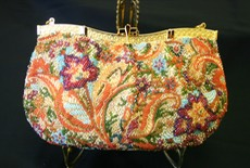 Phase IV Bead Embroidery Gold Bag FLORAL MELODY PURSE